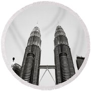 The Petronas Towers Malaysia Round Beach Towel