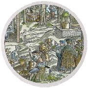 The Physic Garden, 1531 Round Beach Towel