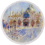 The Piazza San Marco Round Beach Towel