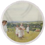 The Picnic  Round Beach Towel