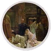 The Picture Gallery, 1874 Round Beach Towel