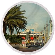 The Pier 2 -  St. Petersburg Fl Round Beach Towel