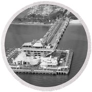 The Pier St Petersburg Fl Round Beach Towel