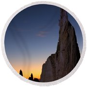 The Pinnacles 2am-111069 Round Beach Towel