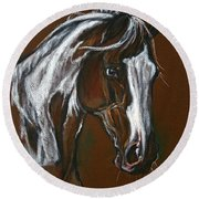 The Pinto Horse Round Beach Towel