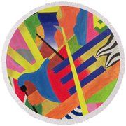 The Pipe Band, 1990 Round Beach Towel