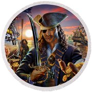 The Pirate Round Beach Towel by Adrian Chesterman