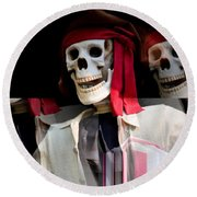 The Pirate's Ghost Round Beach Towel