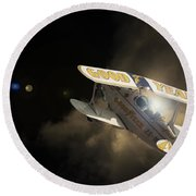 The Pitts Round Beach Towel