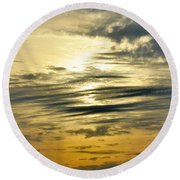 The Place Where Dreams Live Round Beach Towel