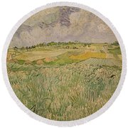 The Plain At Auvers Round Beach Towel