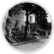 The Platt's House In New Jersey Round Beach Towel