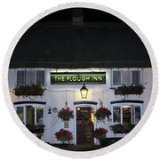The Plough Inn Round Beach Towel