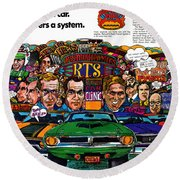 The Plymouth Rapid Transit System Round Beach Towel