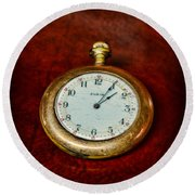 The Pocket Watch Round Beach Towel