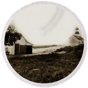 The Point Pinos Lighthouse Pacific Grove California Circa 1895 Round Beach Towel