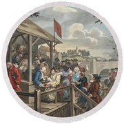 The Polling, Illustration From Hogarth Round Beach Towel