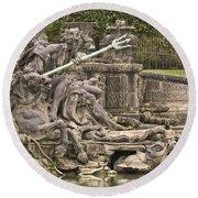 The Ponds Of Versailles - 1  Round Beach Towel