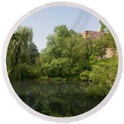 The Pool Central Park Round Beach Towel