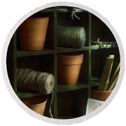 The Potting Shed Round Beach Towel