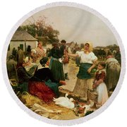 The Poultry Market Round Beach Towel
