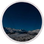 The Presence Of Absolute Silence Round Beach Towel