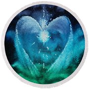 The Prince - Stained Glass Round Beach Towel