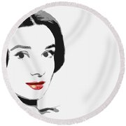 The Princess Of Beauty Round Beach Towel