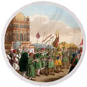 The Procession Of The Taziya, From The Round Beach Towel