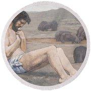 The Prodigal Son Round Beach Towel