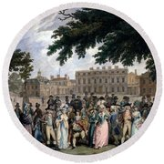 The Promenade In St James Park, C.1796 Round Beach Towel