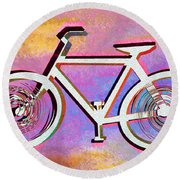 The Psychedelic Bicycle Round Beach Towel