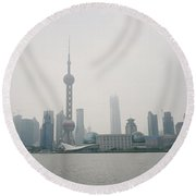 The Pudong Round Beach Towel