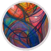 The Pulse Of The Heart Lies Strong Round Beach Towel