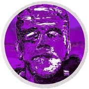 The Purple Monster Round Beach Towel