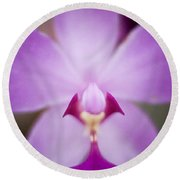 The Purple Orchid Round Beach Towel
