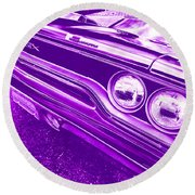The Purple People Eater - 1970 Plymouth Gtx Round Beach Towel