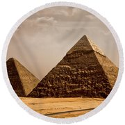 The Pyramids Of Giza Round Beach Towel