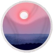The Queen's Sunset - Stunning Painting Like Photograph Round Beach Towel