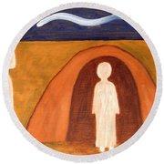 The Raising Of Lazarus Round Beach Towel by Patrick J Murphy