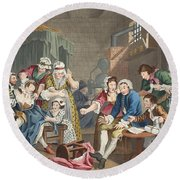 The Rake In Prison, Plate Vii, From A Round Beach Towel