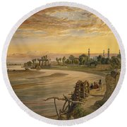 The Ravee River, From India Ancient Round Beach Towel