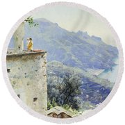 The Ravello Coastline Round Beach Towel