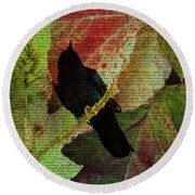The Raven By Edgar Allan Poe  Round Beach Towel