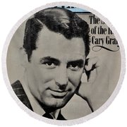 The Real Cary Grant Round Beach Towel