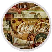 The Real Thing Round Beach Towel