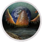 The Rebirth Of The Earth Round Beach Towel