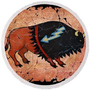 The Red  Buffalo Fresco Round Beach Towel