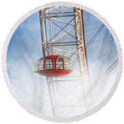 The Red Capsule Round Beach Towel