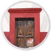The Red Door Round Beach Towel